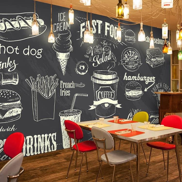 стиле картинки на досках в кофейне сектор